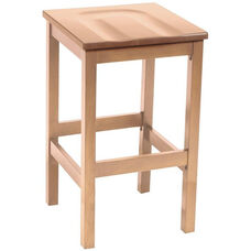 Eastwood Backless Bar Height Stool with Contoured Wood Seat - Natural