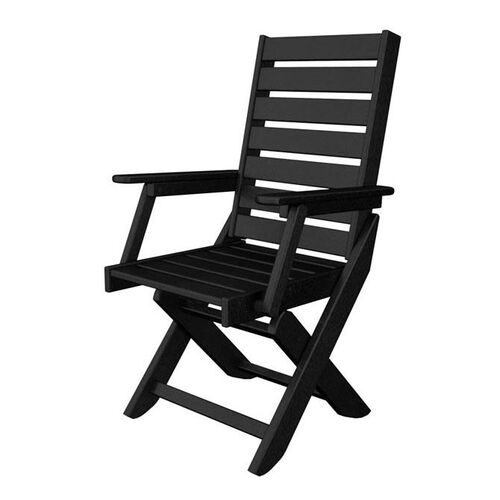 POLYWOOD® Captain Collection Dining Chair - Black