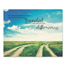 Advantus Two Roads Inspirational Canvas Print