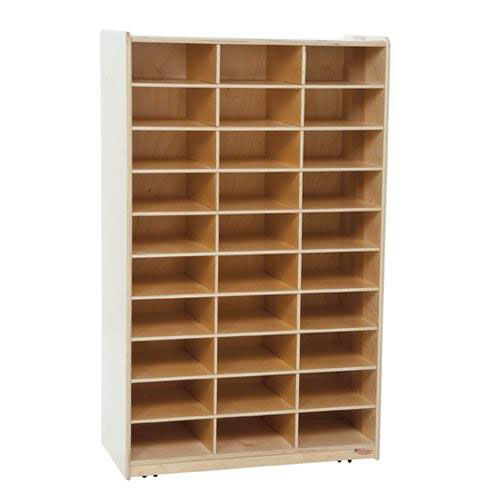 Heavy Duty Mailbox Storage and Distribution Center with Thirty Storage Shelves - Assembled - 30''W x 15''D x 49''H