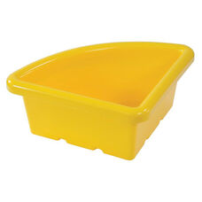 Quarter Circle Plastic Tray For Sand and Water Centers - Yellow - 15''W x 15''D x 6.9''H