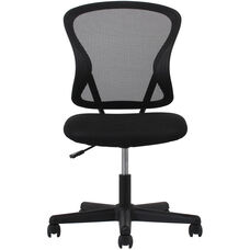 Essentials Mesh Back Swivel Task Chair - Black