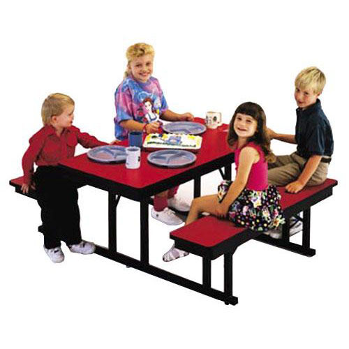 Customizable Children's Rectangle Lunchroom Table - 54''W x 48''D x 23''H