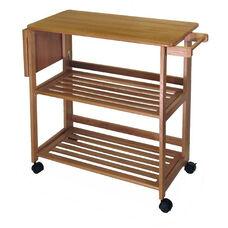 Basics Kitchen Cart in Light Oak