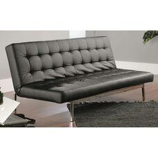 Avenue Sofa Convertible DuraPlush Faux Leather Click-Clak - Black