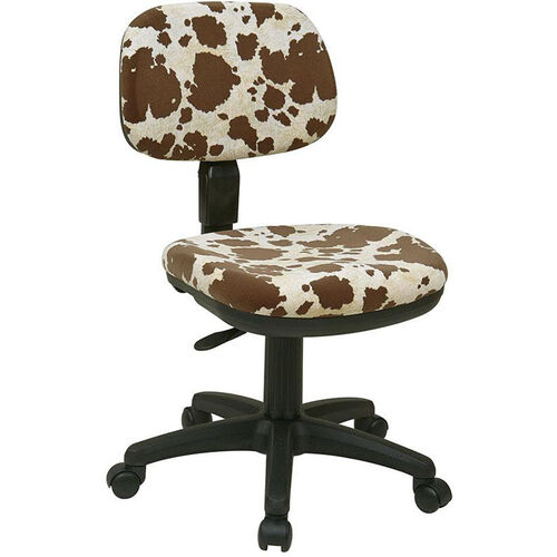 Work Smart Basic Armless Task Chair with Seat Height Adjustment and Casters - Palomino Print