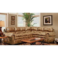 Santa Contemporary Style Polyester Sectional - Padre Almond
