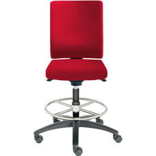 Adjust Medium Height Swivel Stool with Upholstered Outer Shell
