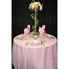 60'' x 60'' Renaissance Stain Resistant Series Square Tablecloth - Pastel Pink