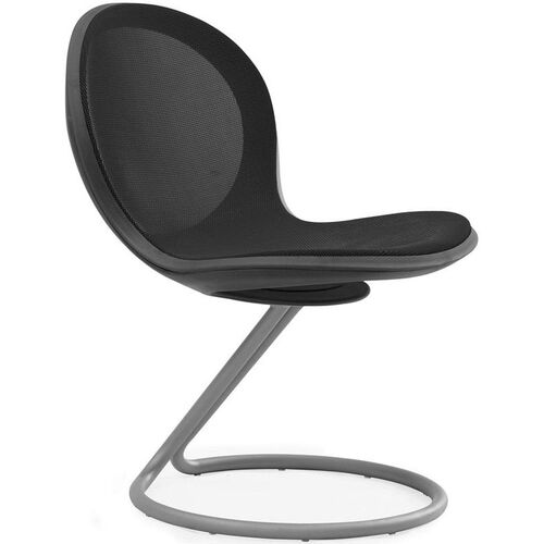 Net Round Base Chair - Black