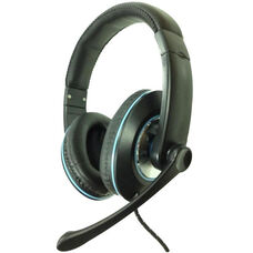 iHear Durable Padded Headset with Built-In Rotating Microphone and 3.5mm TRRS Jack