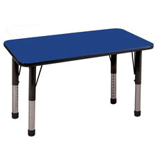 24''W x 48''D Rectangular Activity Table with Laminate Table Top and Height Adjustable Legs