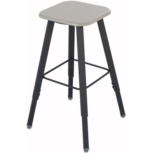 AlphaBetter® Stool with Foot Ring - Beige Seat with Black Frame
