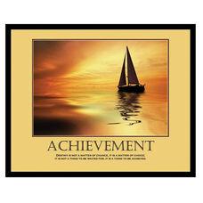 Advantus 30'' W x 24'' L Framed Motivational Art Print - Achievement with Sail Boat