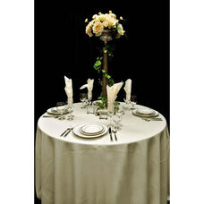60'' x 60'' Renaissance Stain Resistant Series Square Tablecloth - Ivory