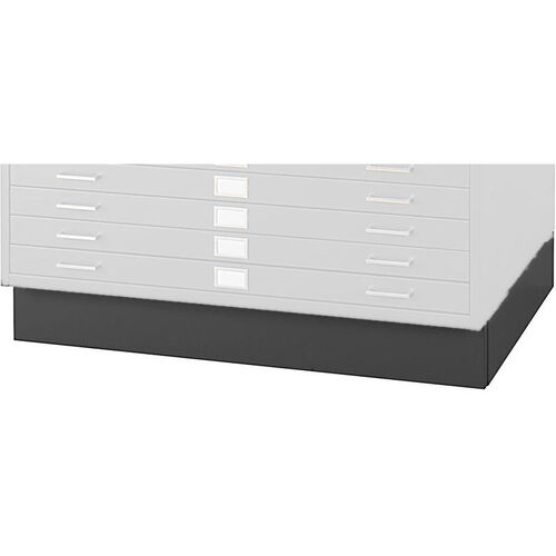6'' H Steel Flat File Low Base for 4996 and 4986 Series - Black
