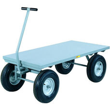 4-Wheeler Wagon Truck With Flush Deck And 4-Ply Pneumatic Wheels