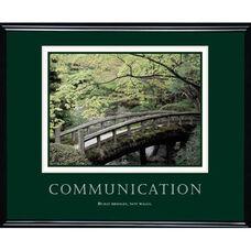 Advantus 30'' W x 24'' L Framed Motivational Art Print - Communication with Bridge