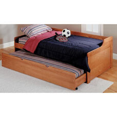 Rustic Style Solid Pine Trundle Bed - Twin - Honey