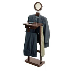 Valet Stand with Wood Base