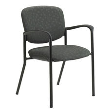 Brylee™ Stacking Guest Chair with Four Legged Base - Set of Two - Black Frame
