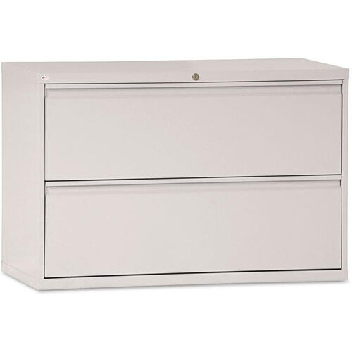 Alera® Two-Drawer Lateral File Cabinet - 42w x 19-1/4d x 28-3/8h - Light Gray