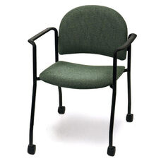 Endurance Stack Chair with Black Frame Casters - Crescent Back