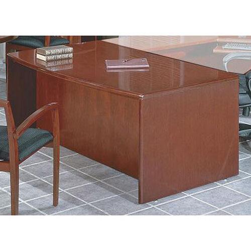 OSP Furniture Sonoma Wood 72'' Bow Top Desk - Cherry