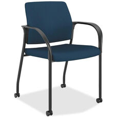 The HON Company Mobile Stacking Multipurpose Armchair with Casters - Mariner