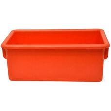 Plastic Injection Molded Cubbie Tray - Autumn Orange - 8.63''W x 13.5''D x 5.25''H
