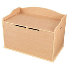 Austin Wooden Spacious Toy Box with Bench Seating Flip-top Lid - Natural