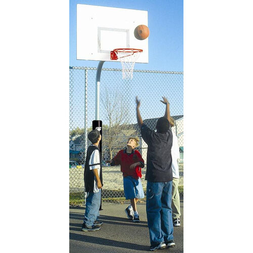 3.5'' Tough Duty Rectangle Steel Playground Basketball System
