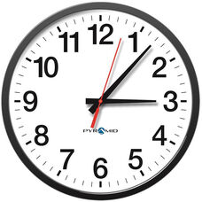 TimeTrax Sync 17'' Analog Clock with Shatterproof Polycarbonate Lens - 12 Hour Face
