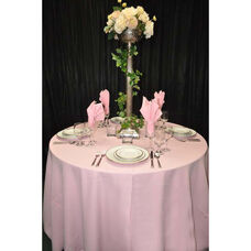 108'' Renaissance Stain Resistant Series Round Tablecloth - Pastel Pink