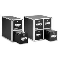 Idea Stream Vaultz A/V Equipment Cabinet - 14.5'' Height x 14'' Width x 15.3'' Depth - Chrome - Black