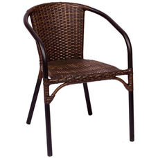 Marina Stackable Arm Chair - Synthetic Wicker