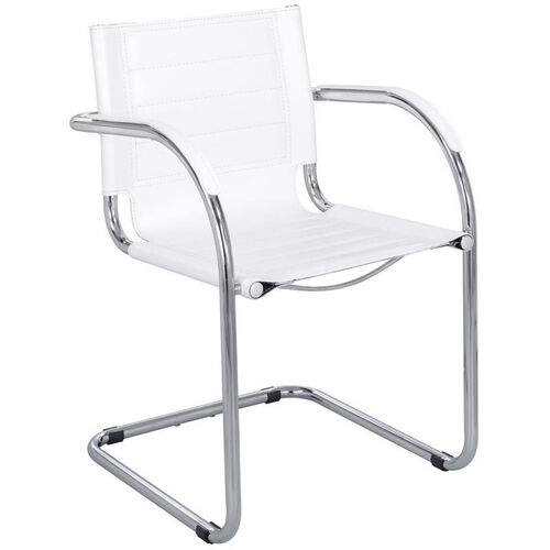 Flaunt™ 21.5'' W x 23'' D x 31.75'' H Leather Guest Chair - White