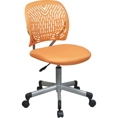 OSP Designs Designer Mesh Seat Computer Task Chair with Seat Height Adjustment and Casters - Orange