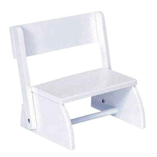 Kids Size Small Sturdy Hardwood Flip Step to Sit Stool - White