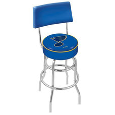 St Louis Blues 25'' Chrome Finish Swivel Counter Height Stool with Double Ring Base