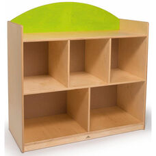 Rainbow Sturdy Birch Laminate Storage Cabinet in Green