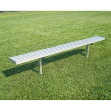Portable Backless Player Bench with Steel Supports and Seat