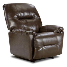 Gennessee Transitional Style Bonded Leather Power Recliner - Bently Brown