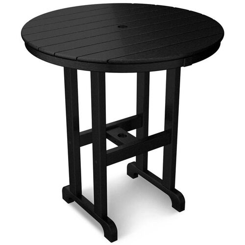 POLYWOOD® Round 36'' Counter Table - Black