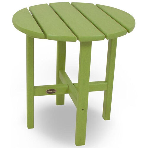 POLYWOOD® Round 18'' Side Table - Vibrant Lime