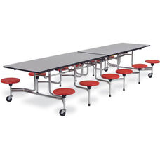 MTS Series Mobile Folding Table with 15''H Stools - Seats 12 - 58''W x 144''D x 27''H
