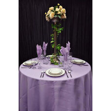 108'' Renaissance Stain Resistant Series Round Tablecloth - Amethyst