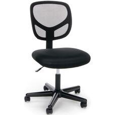 Essentials Swivel Mesh Armless Task Chair - Black