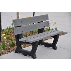 Petrie Recycled Plastic 5' Bench with Black Base
