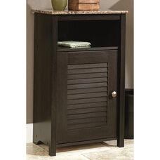 Bath Collection 28.75''H Floor Cabinet with Faux Granite Shelf - Cinnamon Cherry